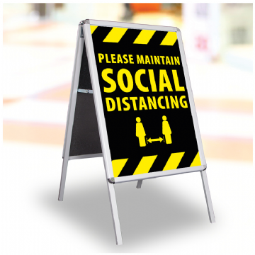 Please Maintain Social Distance - Black
